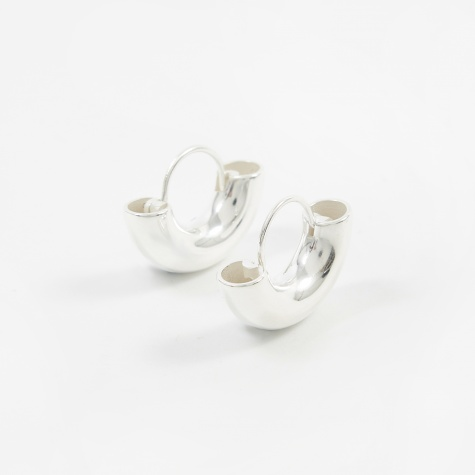 Dinner Date Earrings - Polished Sterling Silver
