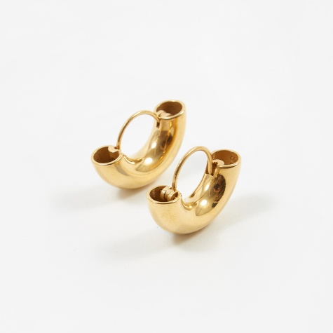 Dinner Date Earrings - Polished Vermeil Gold