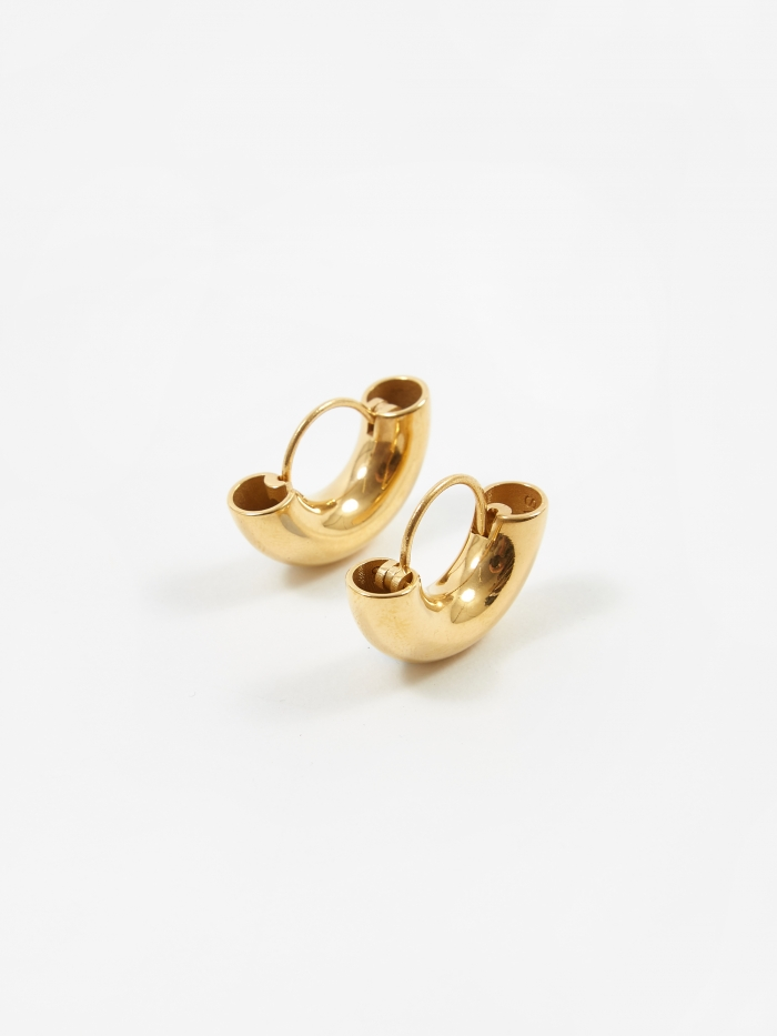 All Blues Dinner Date Earrings - Polished Vermeil Gold (Image 1)