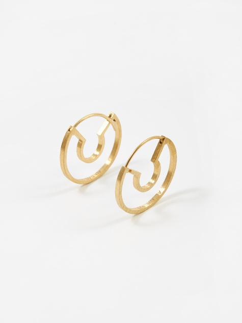 Blind Date Earrings - Brushed Vermeil Gold