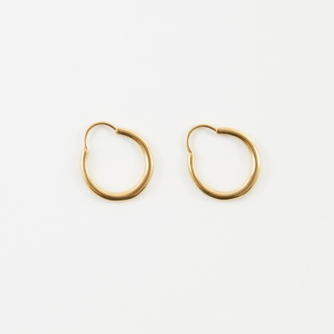 Hungry Baby Snake Earrings - 18K Polished Vermeil Gold