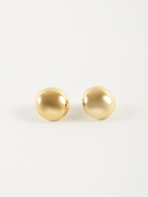 Yolk Earrings - 18K Polished Vermeil Gold