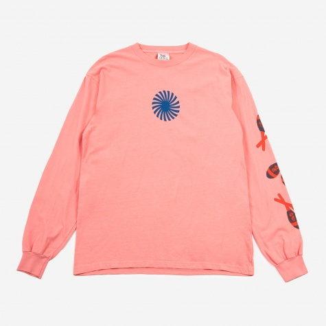 Pin Wheel Longsleeve T-Shirt - Pink