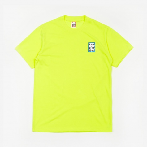 Blue Mini Frame T-Shirt - Neon Green