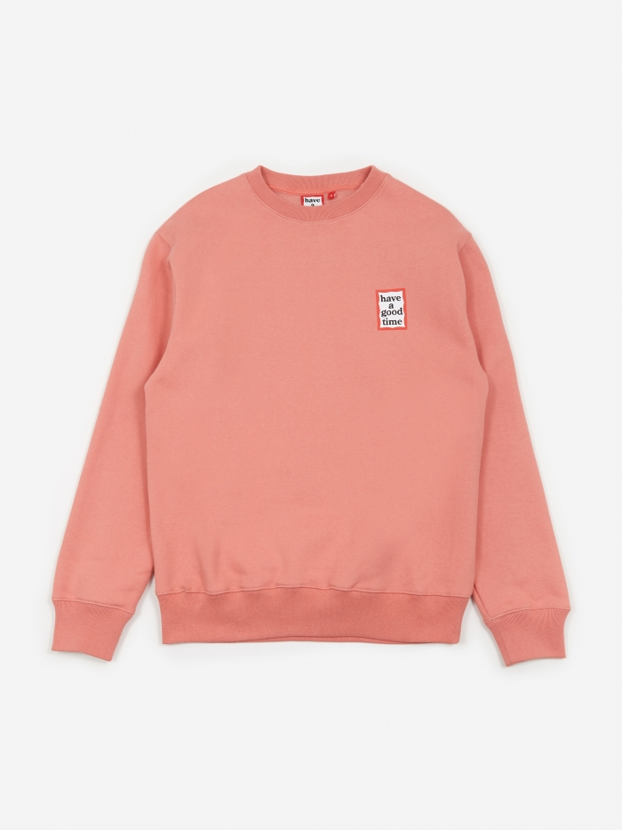 Have A Good Time Mini Frame Crewneck Sweatshirt - Indie Pink (Image 1)