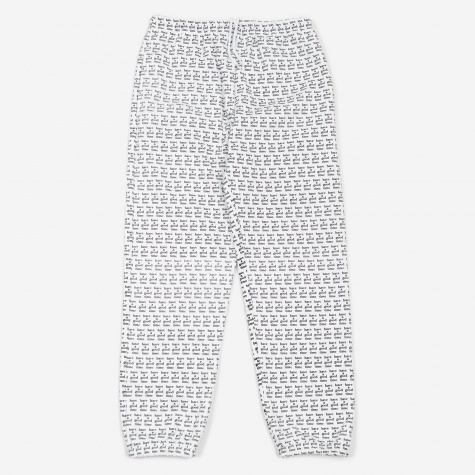 All Over Print Logo Sweat Pant - White