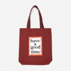 Have A Good Time Frame Tote Bag - Wine