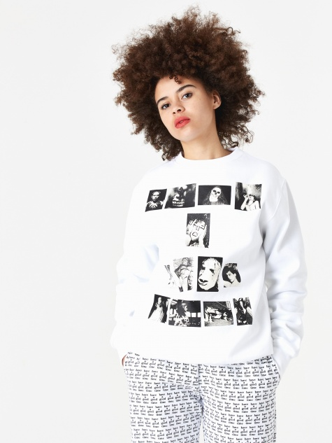 Weirdo Crewneck Sweatshirt - White