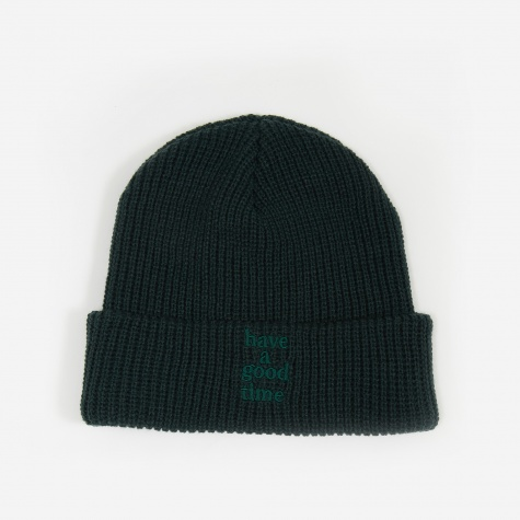 Logo Ragg Wool Beanie Hat - Green