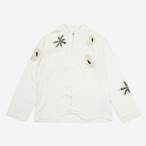 Paisley Embroidered Shirt - Off White