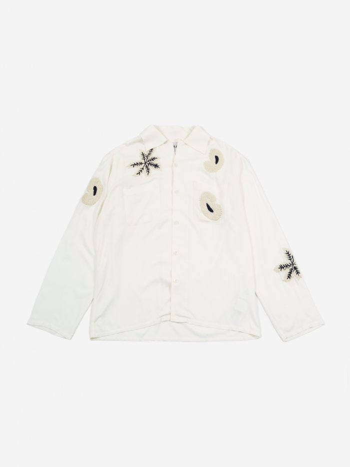 NOMA t.d. Paisley Embroidered Shirt - Off White (Image 1)