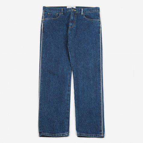 Denim Painting Pants - Indigo/White