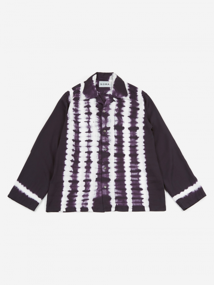 NOMA t.d. Striped Dyed Shirt - Navy (Image 1)
