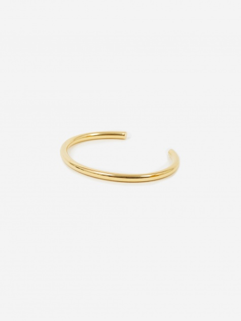 Large Plain Bangle - High Polished Gold