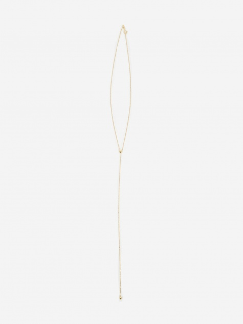 Corvi Necklace With Slider Ball - High Polished Gold