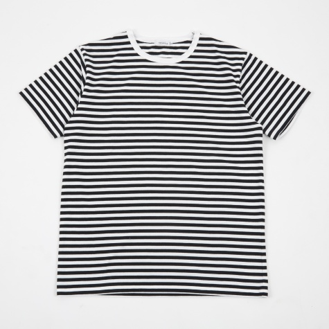 COOLMAX St Jersey T-Shirt - Black/White