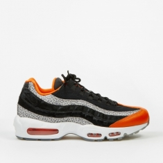 Nike Air Max 95 - Black/Black-Granite-Safety Orange