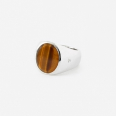 Tom Wood Oval Ring - Tigers Eye