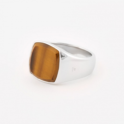 Cushion Ring - Tigers Eye