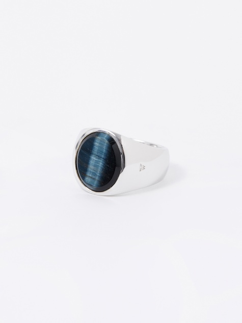 Oval Ring - Blue Hawk Eye