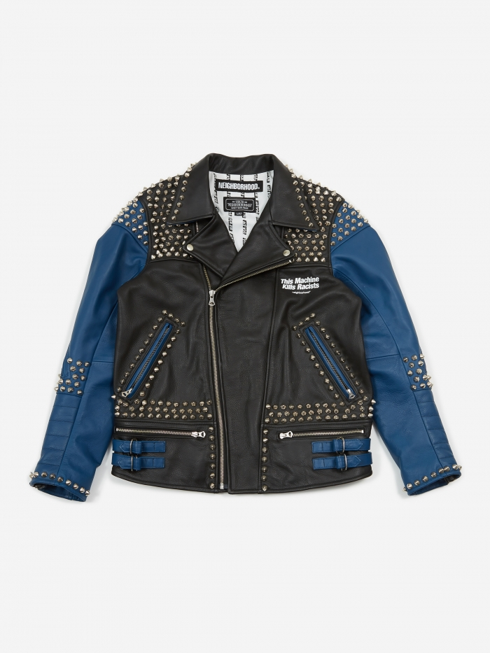 Neighborhood Clay Riders / CL-Jacket - Black/Blue (Image 1)