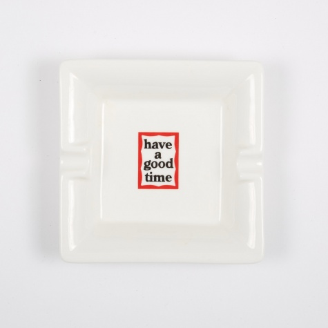Square Ashtray - White
