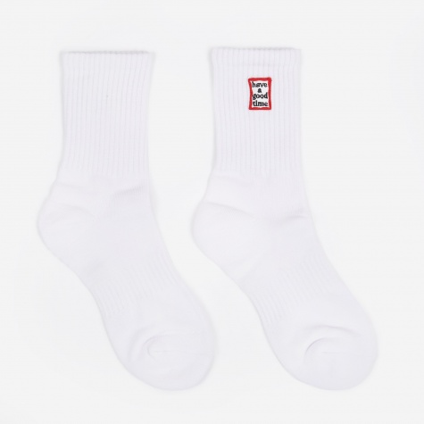 Frame Socks - White