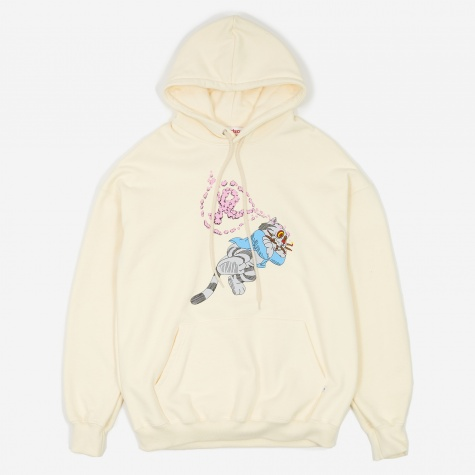Fritz The Cat Smoked Out Hooded Sweatshirt - White