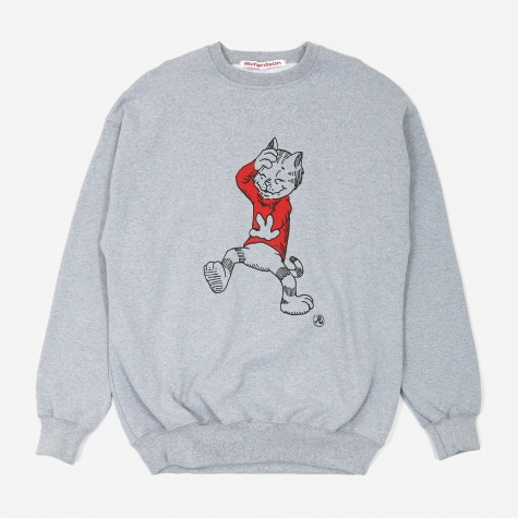 Fritz The Cat Crewneck Sweatshirt - Heather Grey