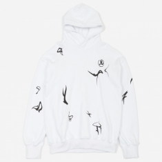 Richardson Erikah Glyph Hooded Sweatshirt - White