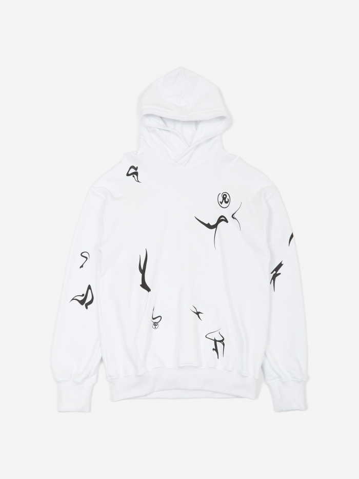 Richardson Erikah Glyph Hooded Sweatshirt - White (Image 1)
