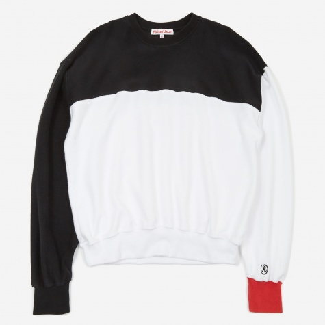 Reverse Terry Colour Block Crewneck Sweatshirt - Mult
