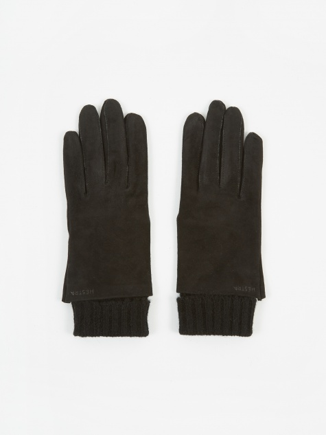 Megan Suede Glove - Black