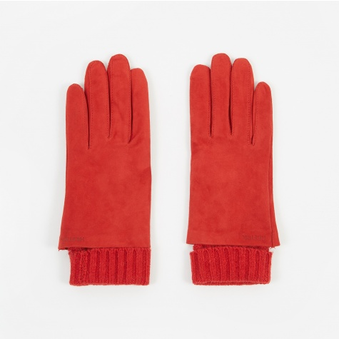 Megan Suede Glove - Red