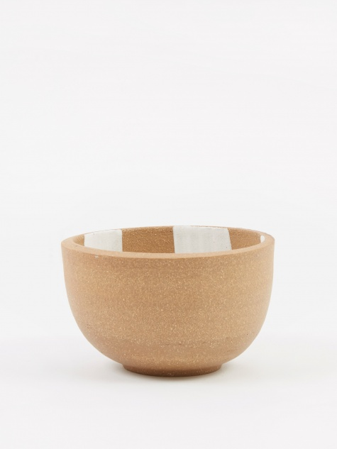 Incense Bowl Large - Light Brown Inside Check