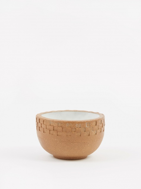 Incense Bowl Medium - Light Brown Blind Press