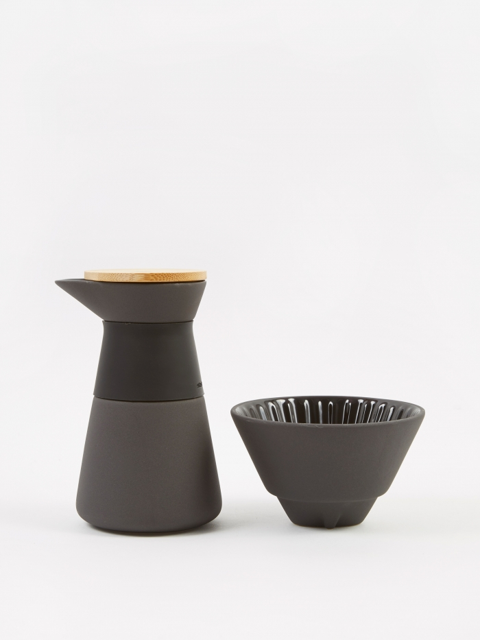"Stelton Theo ""Slow Brew"" Coffee Brewer - Black (Image 1)"