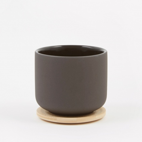 Theo Cup With Coaster - Black