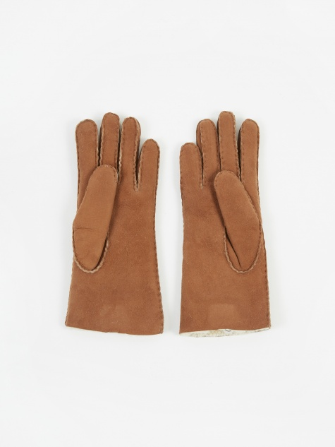 Sheepskin Glove - Brown