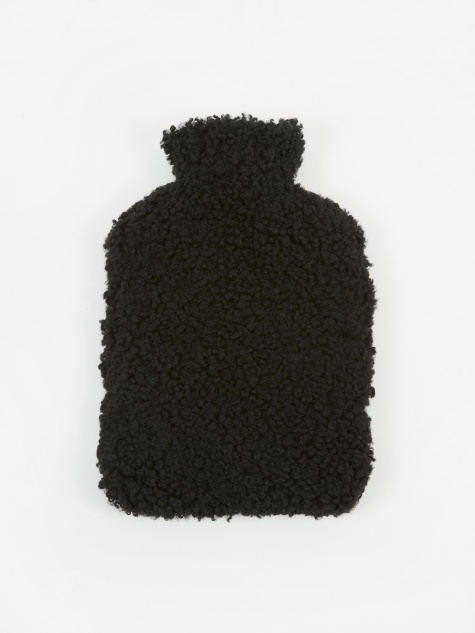 Sheepskin Hot Water Bottle - Black