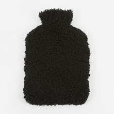 Natures Collection Sheepskin Hot Water Bottle - Black