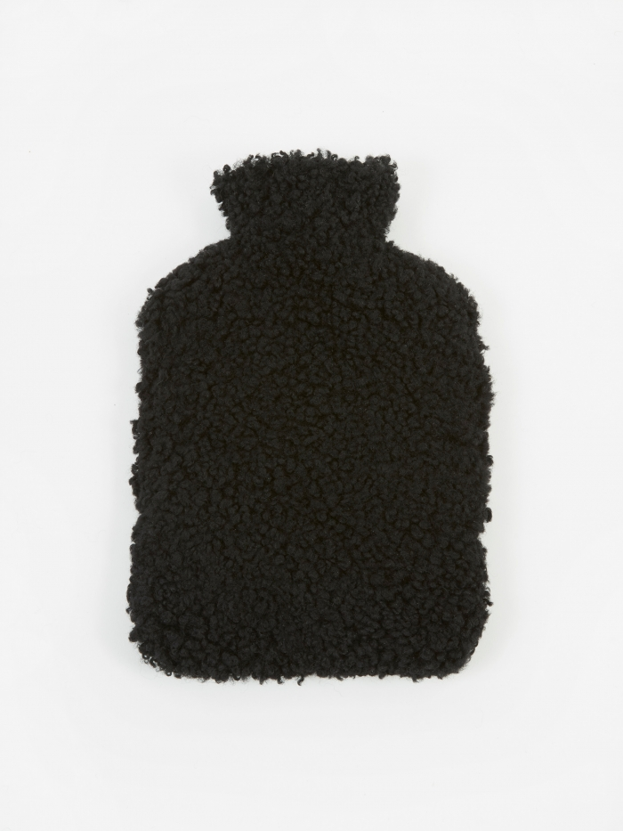 Natures Collection Sheepskin Hot Water Bottle - Black (Image 1)