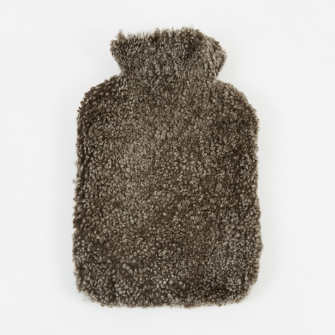 Sheepskin Hot Water Bottle - Cappuccino