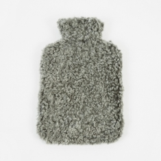 Natures Collection Sheepskin Hot Water Bottle - Graphite
