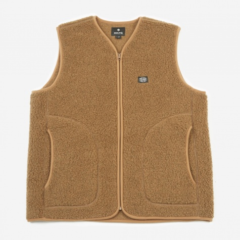 Wool Fleece Vest - Brown