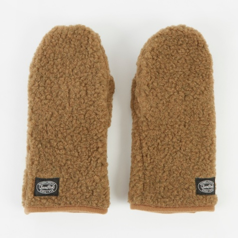 Wool Fleece Mitten - Brown