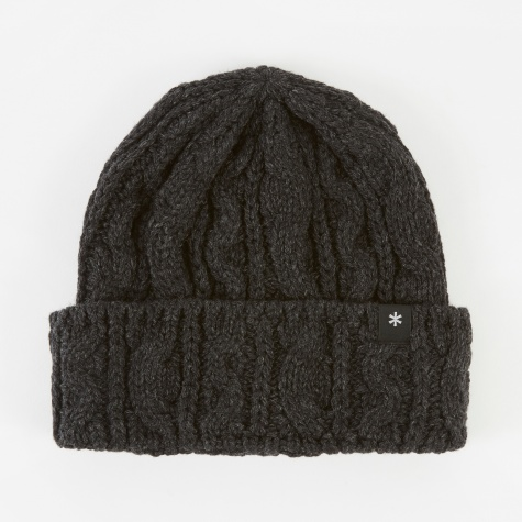 Wool Knit Beanie - Charcoal