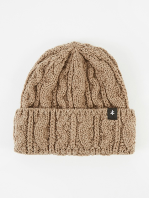 Wool Knit Beanie - Brown