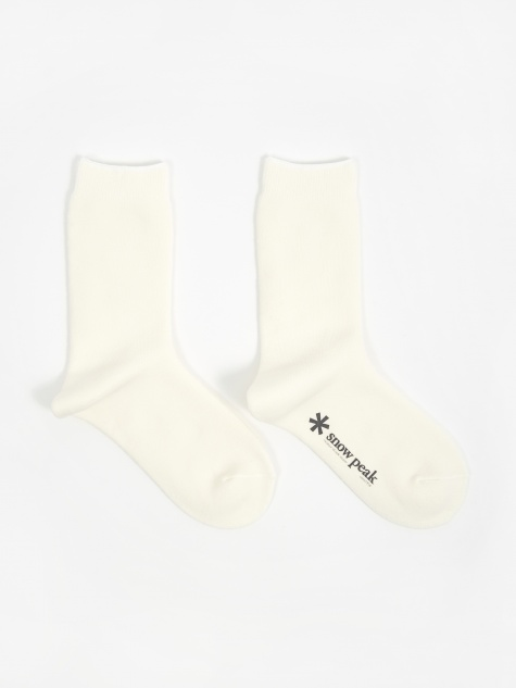 Full Pile Long Sox - White