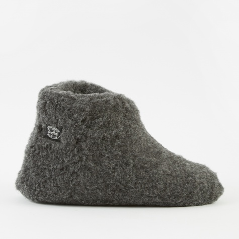 Wool Fleece Tent Shoe - Black